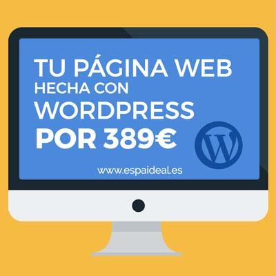 Diseño de páginas web con Wordpress